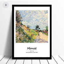 Load image into Gallery viewer, Monet Classic Paintings Famous Artists Series Fine Art Canvas Prints With Artists Own Quotes Quintessential Art For Modern Home Interior Decor