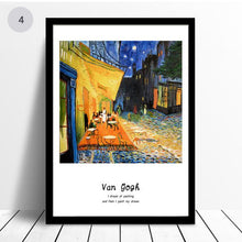 Load image into Gallery viewer, Van Gogh Famous Paintings Classic Artists Series Fine Art Canvas Prints With Artists Own Quotes Quintessential Art For Modern Home Decoration