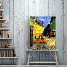 Load image into Gallery viewer, Vincent Van Gogh, Café Terrace at Night, Poster Famous Painting Wall Art Canvas Print Fine Art Poster for Living Room Modern Home Decoration