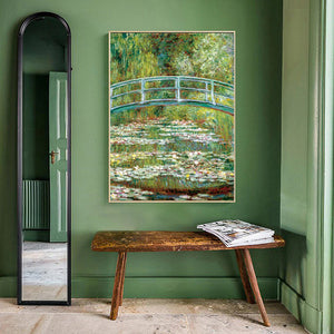Monet's Water Lilies Poster Famous Impressionist Painting Water Lilies and Japanese Bridge Fine Art Canvas Print Wall Art For Living Room Home Decor