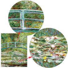 Load image into Gallery viewer, Monet's Water Lilies Poster Famous Impressionist Painting Water Lilies and Japanese Bridge Fine Art Canvas Print Wall Art For Living Room Home Decor