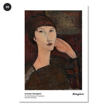 Load image into Gallery viewer, Vintage Vogue Amedeo Modigliani Abstract Portraits Of Women Fine Art Canvas Prints Classic Art Posters For Dining Room Living Room Home Decor