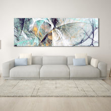 Load image into Gallery viewer, Wide Format Abstract Wall Art Fine Art Canvas Prints Colorful Contemporary Paintings Pictures For Office Home Living Room Modern Wall Decor