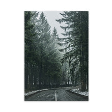 Load image into Gallery viewer, Secret Destination Road Through The Forest Wall Art Inspirational Quotation Fine Art Canvas Prints Nordic Pictures For Modern Home Decor