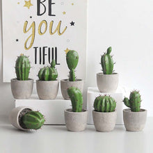 Load image into Gallery viewer, Realistic Artificial Cactus Plants And Succulents Potted Desert Plant Scandinavian Style Table Decoration Modern Home Decor Windowsill Plants