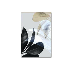 Abstract Colored Leaves Wall Art House Plants Botany Posters Fine Art Canvas Prints For Living Room Dining Room Nordic Style Wall Decor