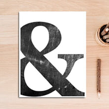 Load image into Gallery viewer, Love And Ampersand Black And White Minimalist Quotation Wall Art Simple Definition Of Love Fine Art Canvas Prints Pictures For Nordic Style Home Decor