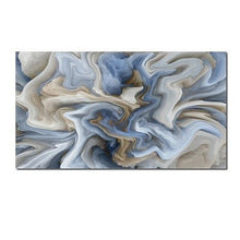 Load image into Gallery viewer, Blue Marble Abstraction Wall Art Fine Art Canvas Prints Pastel Color Contemporary Picture For Office Interior Painting For Living Room Modern Home Decor