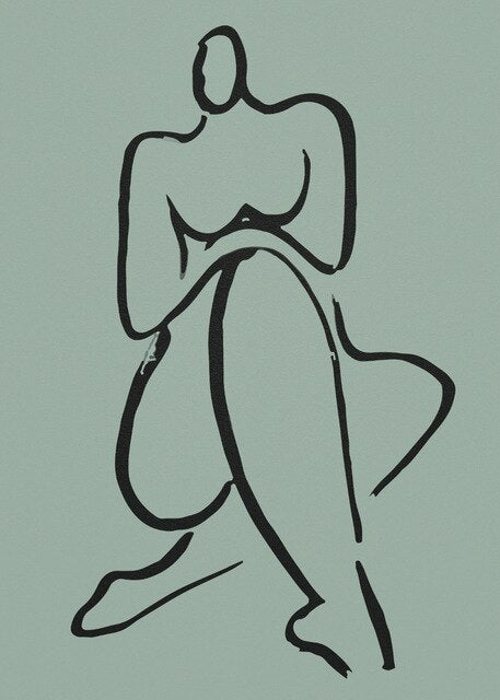 Fine Art Abstract Figure Drawing