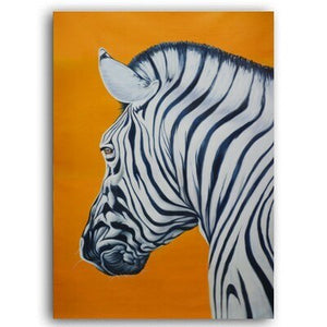 Stunning Zebra Print Wall Art Orange Background Fine Art Canvas Prints Nordic Style Minimalist Animal Paintings For Modern Home Decor