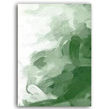 Load image into Gallery viewer, Going Green Abstract Nordic Watercolor Wall Art Minimalist Fine Art Canvas Prints Bright Colorful Paintings For Modern Home Interior Decor