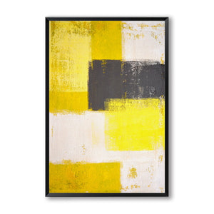 Modern Abstract Wall Art Vintage Style Nordic Contemporary Black Grey Yellow Fine Art Canvas Prints For Living Room Bedroom Wall Decor