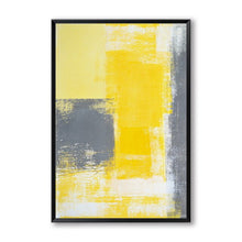 Load image into Gallery viewer, Modern Abstract Wall Art Vintage Style Nordic Contemporary Black Grey Yellow Fine Art Canvas Prints For Living Room Bedroom Wall Decor