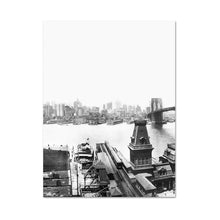 Load image into Gallery viewer, Brooklyn Bridge NYC Black & White Posters Modern Citsycape Wall Art Fine Art Canvas Prints For Office Home Living Room Interior Decor
