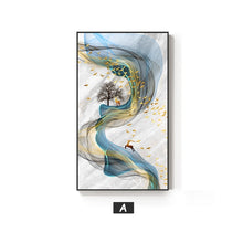 Load image into Gallery viewer, Abstract Golden Stags Luxurious Nordic Wall Art Fine Art Canvas Prints Fashionable Pictures For Living Room Bedroom Modern Home Decor