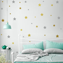 Load image into Gallery viewer, Cute Little Stars Wall Decals For Nursery Room Wall Decor Multiple Colors Varied Sizes Removable PVC Vinyl Wall Stickers For Kids Room Colorful DIY Wall Decor