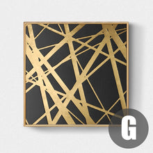 Load image into Gallery viewer, Luxury Nordic Golden Black Abstract Stylish Modern Wall Art Fine Art Canvas Prints Pictures For Office Living Room Bedroom Home Interior Decor
