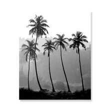 Load image into Gallery viewer, Modern Fashion Black And White Gallery Wall Art Tropical Palm Trees Simple Breathe Quotation Sunglasses Fashion Fine Art Canvas Prints