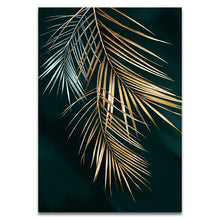 Load image into Gallery viewer, Golden Leaf Wall Art Minimalist Nordic Tropical Plants Fine Art Canvas Prints Luxury Pictures For Living Room Dining Room Modern Home Decor