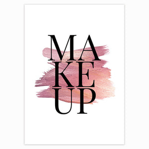 Modern Beauty Wall Art Posters Makeup Lipstick Lashes And Perfume Stylish Minimalist Nordic Style Salon Wall Art Fine Art Canvas Prints Bedroom Decor