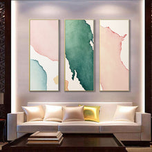 Load image into Gallery viewer, Modern Minimalist Watercolor Abstract Column Print Wall Art Pink Blue Green Beige Fine Art Canvas Prints For Hallway Living Room Home Decor