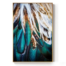 Load image into Gallery viewer, Abstract Feathers Wall Art Fine Art Canvas Prints Luxury Pictures For Living Room Bedroom Modern Fashionable Glam Home Interior Decor
