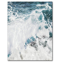 Load image into Gallery viewer, Ocean Waves Nordic Seascape Wall Art Pictures Blue Ocean Surf Posters Fine Art Canvas Prints Art Decor For Office Or Living Room Home Decoration
