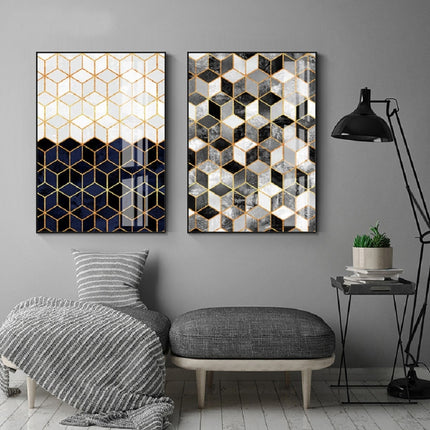 Cubic Marble Geometric Deco Abstract Wall Art Fine Art Canvas Prints Contemporary Pictures For Modern Home Office Living Rooms And Bedroom Interior Decor