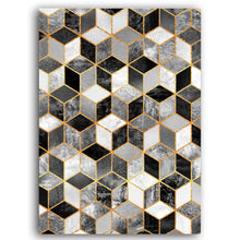 Load image into Gallery viewer, Cubic Marble Geometric Deco Abstract Wall Art Fine Art Canvas Prints Contemporary Pictures For Modern Home Office Living Rooms And Bedroom Interior Decor