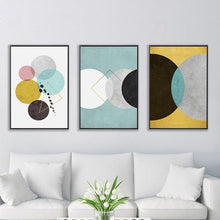 Load image into Gallery viewer, Modern Nordic Abstract Geometric Wall Art Art Fine Art Canvas Prints Minimalist Style Contemporary Pieces For Office Interior Living Room Bedroom Home Decor