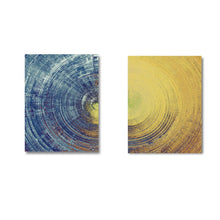 Load image into Gallery viewer, Yellow Meets Blue Contemporary Wall Art Fine Art Canvas Prints Abstract Circle Pictures For Office Interiors Living Room Modern Home Wall Art Decor