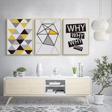 Load image into Gallery viewer, Modern Bright Geometric Wall Art Nordic Minimalist Quotations Fine Art Canvas Prints Posters For Office Interior Living Room Bedroom Pictures Home Interior Styling