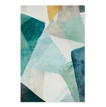 Load image into Gallery viewer, Textural Shades Of Green Abstract Wall Art Fine Art Canvas Prints Nordic Style Modern Pictures For Living Room Bedroom And Contemporary Office Interiors