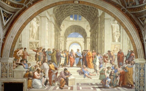 Famous Paintings Renaissance Art School Of Athens by Raphael Fine Art Canvas Print Classic Wall Art Picture For Living Room Bedroom Contemporary Home Decor