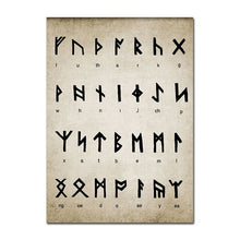 Load image into Gallery viewer, Old Norse Runic Alphabet Viking Culture Poster Nordic Wall Art Fine Art Canvas Print Scandinavian Pictures For Living Room Home Office Wall Art Decoration