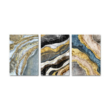 Load image into Gallery viewer, Black Blue Marble Golden Geode Wall Art For Home Office Fine Art Canvas Giclee Prints Modern Pictures For Living Room Bedroom Luxury Interior Decor