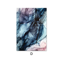 Load image into Gallery viewer, Colorful Ink Splash Abstract Wall Art Pink Gray Blue Subtle Hues Fine Art Prints Modern Nordic Marble Posters For Living Room Contemporary Bedroom Decor