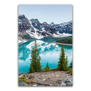 Serene Mountain Lake Forest Wilderness Wall Art Fine Art Canvas Prints Modern Landscape Pictures Of Calm For Home Office Living Room Home Decor