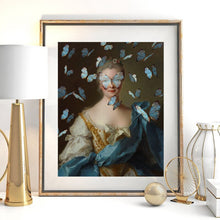 Load image into Gallery viewer, Retro Classical Abstract Portrait Wall Art Fine Art Canvas Prints Altered Vintage Gallery Pictures For Living Room Dining Room Contemporary Home Decor