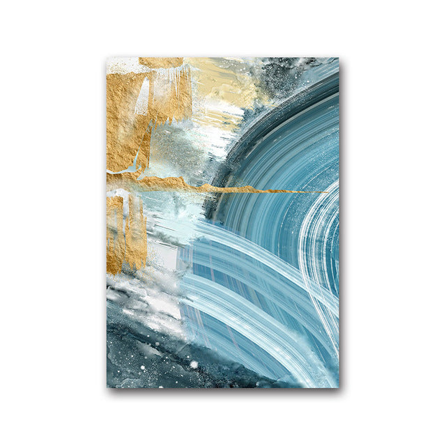 Nordic Abstract Sky Blue Summer Sea Wall Art Fine Art Canvas Prints Contemporary Pictures For Living Room Bedroom Modern Home Office Interior Decor