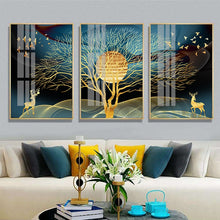 Load image into Gallery viewer, Golden Dream Landscape Luxury Wall Art Fine Art Canvas Prints Modern Nordic Style Wall Decor For Loft Apartment Hotel Decor Contemporary Home Interior Design