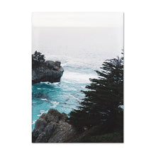 Load image into Gallery viewer, Hidden Cove Tropical Coastal Landscape Wall Art Fine Art Canvas Prints Beachscape Nordic Style Seascape Pictures For Office Living Room Decor