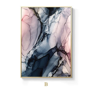 Alien Clouds Abstract Wall Art Colorful Fine Art Canvas Prints Modern Contemporary Nordic Style Marble Effect Pictures For Living Room Bedroom Home Decor