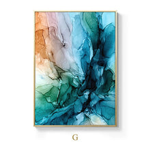 Load image into Gallery viewer, Alien Clouds Abstract Wall Art Colorful Fine Art Canvas Prints Modern Contemporary Nordic Style Marble Effect Pictures For Living Room Bedroom Home Decor