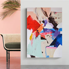 Load image into Gallery viewer, Color Splash Modern Abstract Wall Art Fine Art Canvas Print Colorful Aesthetics Picture For Contemporary Living Room Office Salon Hotel Bedroom Interior Decor