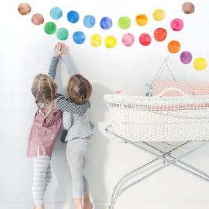 Colorful Pastel Dots PVC Wall Decals Removable Wall Stickers Creative Nordic Style Colorful DIY Home Decor For Nursery Kindergarten Classroom Kids Room Decor