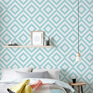 Modern Geometric Wall Mural Self Adhesive PVC Vinyl Wallpaper Rolls Peel & Stick Covering For Furniture Cabinets Surfaces Creative DIY Home Interior Decor