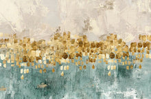 Load image into Gallery viewer, Modern Abstracts Golden Beige And Teal Luxury Wall Art Fine Art Canvas Prints Nordic Style Contemporary Wall Art For Home Office Interior Decor