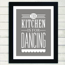 Load image into Gallery viewer, This Kitchen is For Dancing Canvas Pictures Modern Elegant Nordic Print Wall Art Posters Paintings for Kitchen and Home Decor