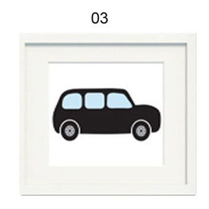 London Theme Nursery Paintings London Bus Taxi and Bearskin Guards Canvas Painting Nursery Wall Art Posters For Kids Room